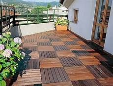 wood tiling wooden floor on the balcony interior