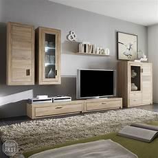Wohnwände Eiche Sägerau - wohnwand 2 montreal anbauwand wohnzimmer in sonoma eiche