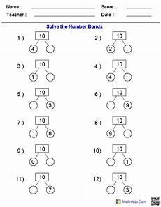 2nd grade math worksheet number bonds number bonds worksheets printable number bonds worksheets
