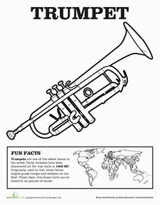 trumpet coloring page education