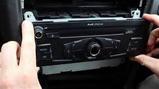 how to remove the radio in an audi a4 b8