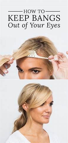 an easy way to keep bangs out of your eyes hair ideas hair hair hacks hair styles