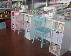 super cute sewing table polka dot chairs craft room