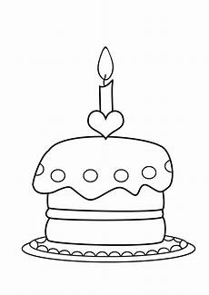 Malvorlagen Cake Birthday Coloring Pages