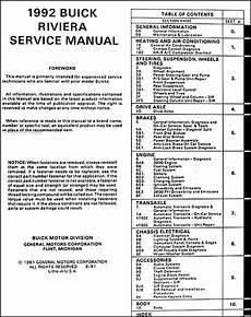 service manuals schematics 1992 buick skylark security system 1992 buick riviera repair shop manual original