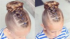 how to pull through bun hairstyle little hairstyles youtube