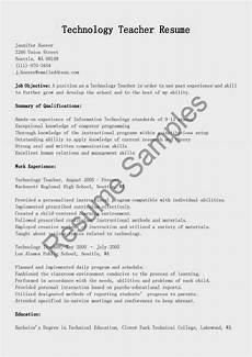 resume sles technology teacher resume sle