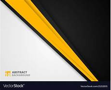 Abstract Black Yellow White