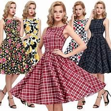 mode damen kariert retro 50er 60er jahre tanz kleid dirndl