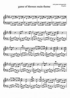 game of thrones piano sheet music because you never know