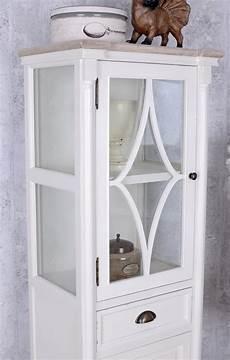 vitrinenschrank shabby chic vintage vitrine hochschrank weiss vitrinenschrank shabby