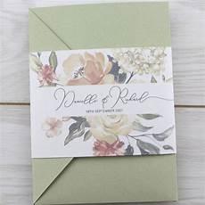 bryony pocketfold wedding invitation pure invitation wedding invites