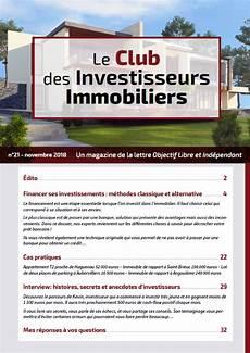 Le Club Des Investisseurs Immobilier Un Patrimoine