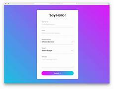 30 best free html contact forms with fresh new designs 2020