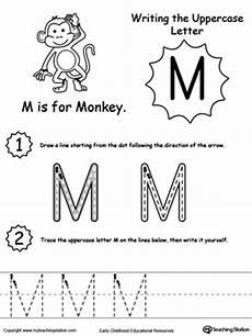 capital letter m tracing worksheets 24323 writing uppercase letter m myteachingstation