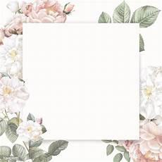flower card design template feminine flower card template royalty free stock