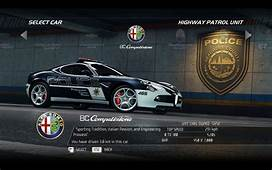 Video Games Cars Police Alfa Romeo 8C Need For Speed Hot
