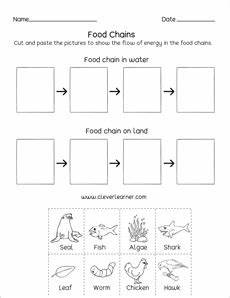 food chain printables and worksheets for kindergarten and