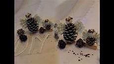 Diy Basteln 5 Deko Weihnachts Zapfen In Eis Schnee