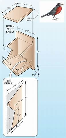 bird house plans for robins robin birdhouse