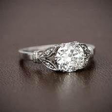 style engagement ring 1 13ct old mine cut diamond