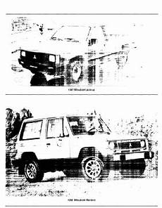 car service manuals pdf 1988 mitsubishi cordia lane departure warning repair manuals mitsubishi montero 1988 repair manual
