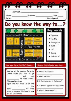 giving directions worksheets esl 11669 giving directions interactive and downloadable worksheet check your answers