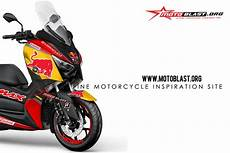 Modifikasi Xmax 250 by Modifikasi Striping Yamaha Xmax 250 Redbull Black Edition