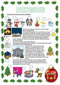 texte weihnachten dezember arbeitsblatt kostenlose