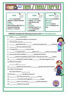 grammar worksheets there their they re 24988 their there they re worksheet free esl printable worksheets made by teachers