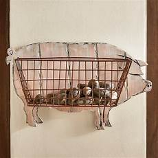 pigs accents bringing charming country home themes humor modern interior decorating pig wall basket with images baskets on wall country