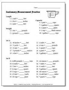 customary units of measurement worksheets 4th grade 1958 free customary measurement practice worksheet or quiz fifthgradeflock homeschool math