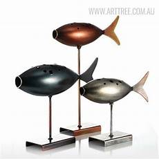 fish style submarine figurines metal sculpture