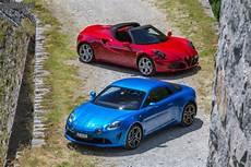 Essai Comparatif Alpine A110 Alfa Romeo 4c Spider