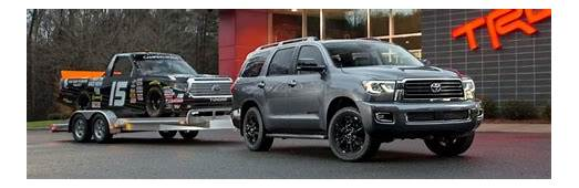 How Much Can The 2018 Toyota Sequoia Models Tow
