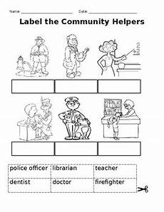 of community helper worksheets by porta sproducts tpt