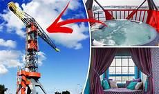 Kran Hotel Amsterdam - crane hotel faralda guests stay inside a crane in the