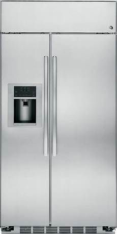 psb42yshss ge profile series 42 quot built in stainless side by side refrigerator stainless steel