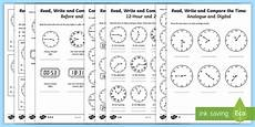 printable time worksheets year 4 3784 year 4 read write and compare the time differentiated worksheet worksheets