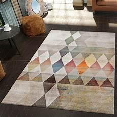 Moderner Teppich Wohnzimmer Geometrische Muster