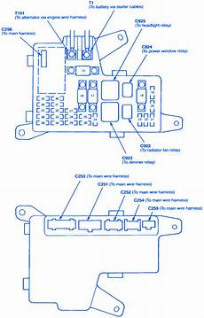Honda Accord Ex4 1992 Engine Fuse Box Block Circuit