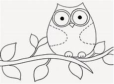 5 Contoh Sketsa Gambar Burung Hantu Kolase Cara Mewarnai