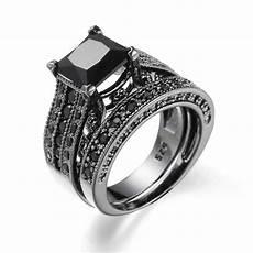 2019 black diamond aquamarine engagement rings vintage wedding rings creative fashion zircon