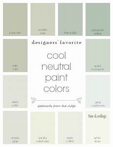designers favorite cool neutral paint colors postcards from the ridge