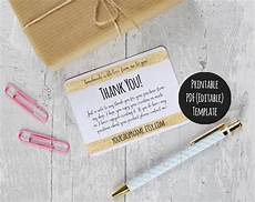thank you packaging card template items similar to etsy shop thank you cards instant