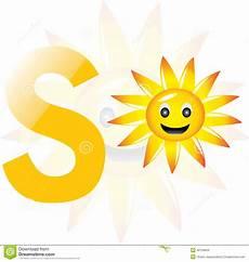 sun lettere alphabet s for sun stock illustration illustration of