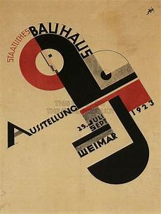 weimar bauhaus exhibition poster german by
