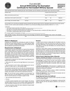 form m 4 form m 4 ms fillable annual withholding tax exemption certificate for nonresident military spouse