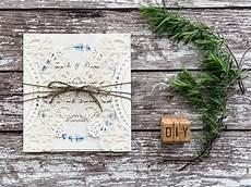 rustic diy wedding invitation with lavander imagine diy
