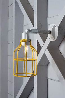 industrial wall l outdoor yellow wire cage exterior wall